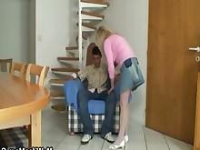 ass blonde granny mature