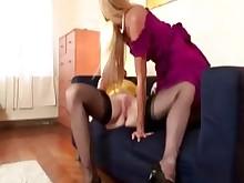 horny lesbian mature milf stocking