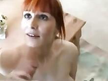 ass handjob mature redhead