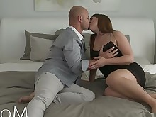 brunette couple creampie cumshot erotic fuck hd housewife inside