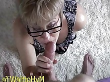 threesome wife ass blowjob cumshot daughter facials glasses granny