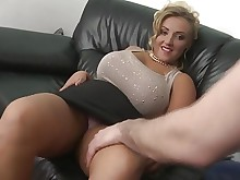 shaved big-tits blonde cougar creampie fuck hd milf natural