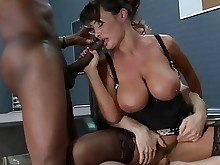 big-cock threesome fuck gang-bang group-sex hot huge-cock interracial milf