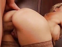 big-tits blonde boobs big-cock cumshot glasses gorgeous hot mammy