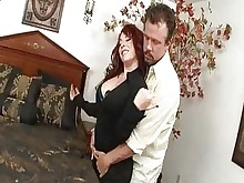 pussy redhead rimming stocking anal licking mature milf