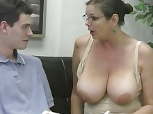 ass big-tits boobs glasses handjob housewife mature orgasm wife