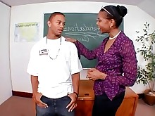 black bus ebony milf old-and-young teacher teen
