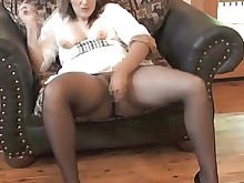 bbw juicy masturbation mature milf nylon panties stocking