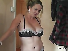 hot milf sperm stocking cumshot hd