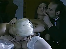 licking milf mouthful pussy rimming slender stocking threesome full-movie