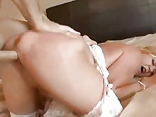 playing pussy really redhead ride stocking anal ass big-cock