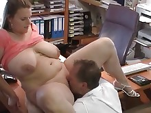 big-tits boobs couple bbw mature milf office