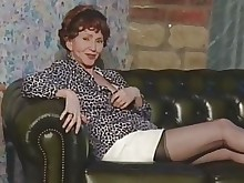fingering granny mature nylon solo stocking