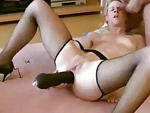dildo mammy mature toys train ass black blonde