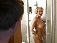 mature anal hd shower hardcore blonde