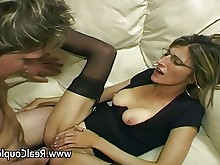 amateur anal ass couple fuck glasses hardcore housewife milf