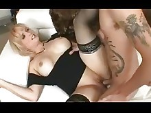 blonde fuck juicy milf pussy stocking black