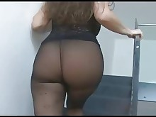 stocking monster milf masturbation hairy
