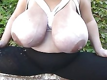 boobs bbw lactation mature outdoor big-tits