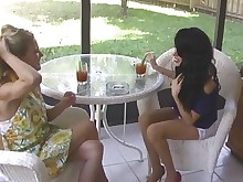 threesome cougar smoking milf mature hot