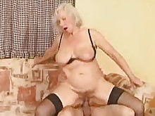 oral stocking threesome ass big-tits big-cock fuck granny hairy