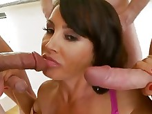 big-tits blowjob boobs gang-bang group-sex mature milf