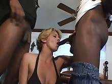 threesome double-anal wife anal big-tits black boobs big-cock double-penetration