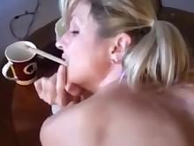 amateur creampie doggy-style mammy milf smoking wife