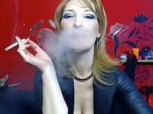 fetish mammy mature milf smoking webcam