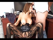 handjob hot mammy milf stocking