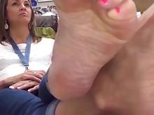 feet foot-fetish juicy mammy mature milf solo teacher tease