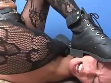 fetish lesbian milf nasty nylon oral panties skirt slave
