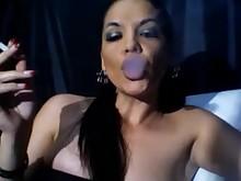 brunette fetish milf smoking