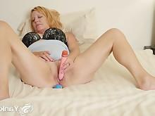amateur blonde hd lingerie masturbation mature orgasm pussy shaved