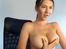 boobs brunette milf nipples webcam