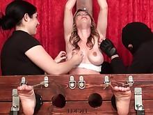 bdsm big-tits feet fetish foot-fetish milf slave threesome