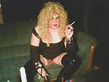 blonde dildo dress ladyboy masturbation mature smoking toys vintage