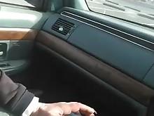 black blonde blowjob car big-cock cumshot milf playing pov