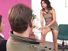 ass big-tits blowjob boobs brunette big-cock doggy-style high-heels huge-cock