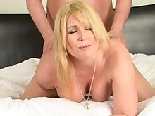 ass big-tits blonde big-cock creampie curvy doggy-style fuck small-tits