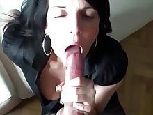 amateur blowjob brunette big-cock mammy milf sucking